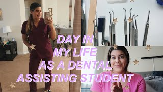 day in my life as a dental assisting student!
