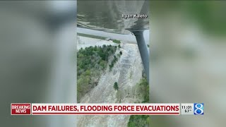 Dam failures force evacuations near Midland