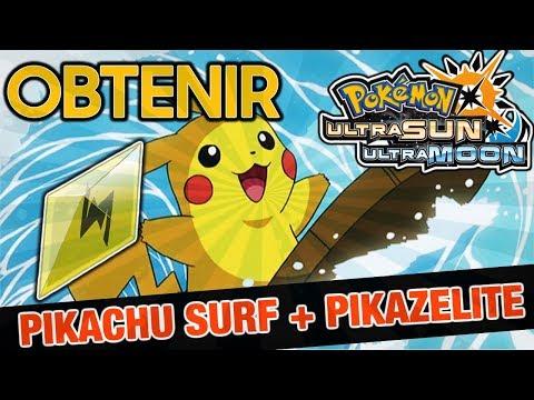 OBTENIR LE PIKACHU SURF SUR ULTRA SOLEIL & LUNE + PIKAZELITE !!