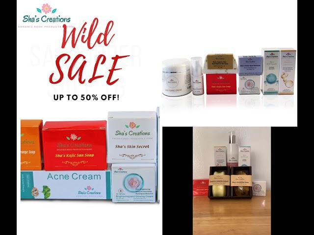 Sale sale organic skin care