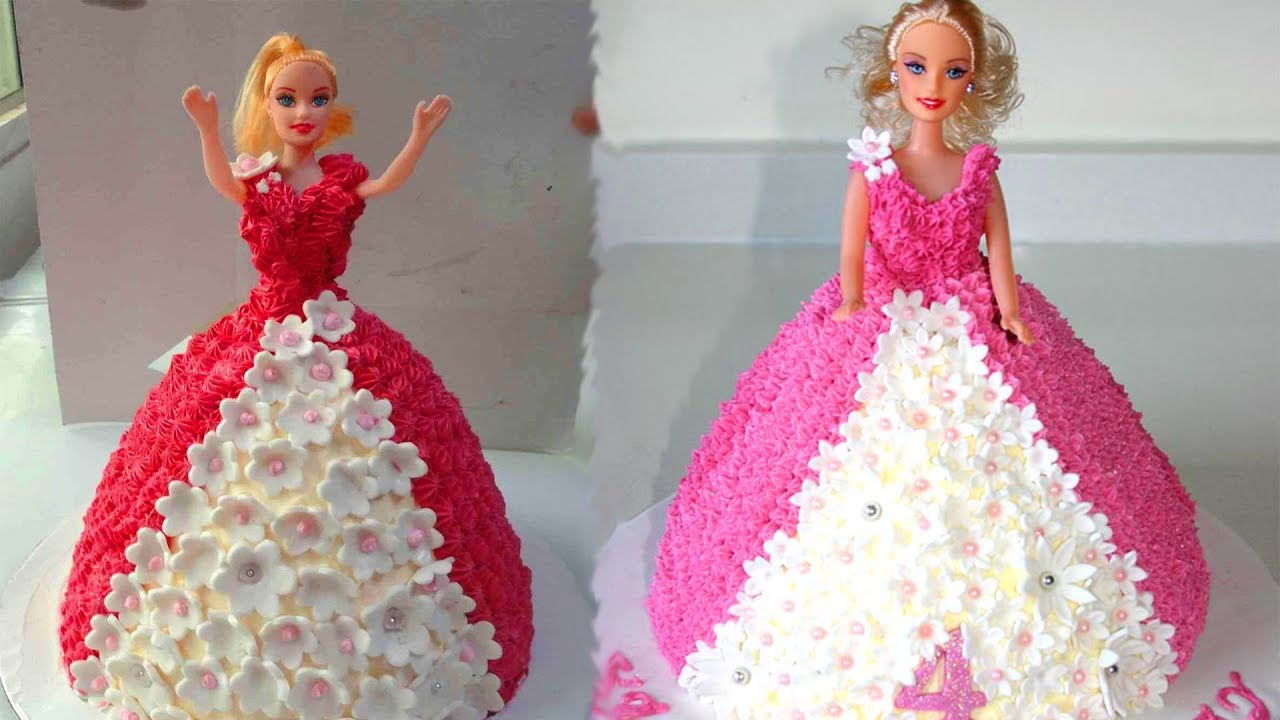 How To Make Barbie Cake Design Easy Birthday Cake Decorations