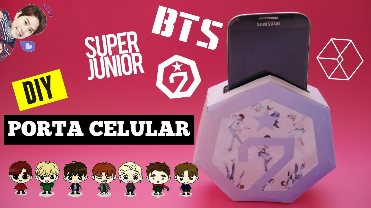 Diy K Pop Crea Tu Propio Porta Celular Facil Y Barato Super Junior Got 7 Bts Exo