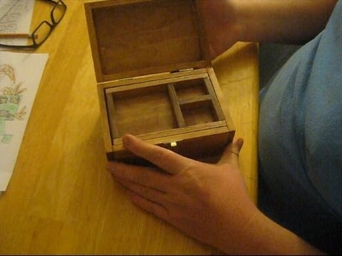 Make your own small wooden jewelry box youtube for How to make a ring box out of wood