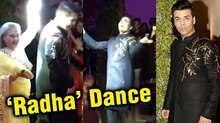 Karan Johar Dances On 'Radha' At Sandeep Khosla's Niece Saudamini Mattu Wedding