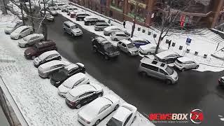 Снегопад вызвал восьмибалльные пробки во Владивостоке
