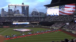 National Anthem Seattle Mariners - Opening Night 2013 - Safeco Field
