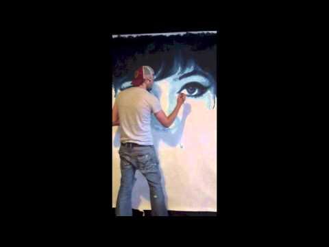 Painting Anna Karina | Artist Jeremy Penn