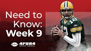 Fantasy Football Week 9: Everything You Need to Know