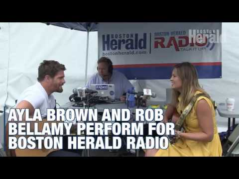 Ayla Brown and Rob Bellamy perform for Boston Herald Radio