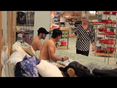 Doing Dirty Things in Public Bed at Carrefour Laval !!