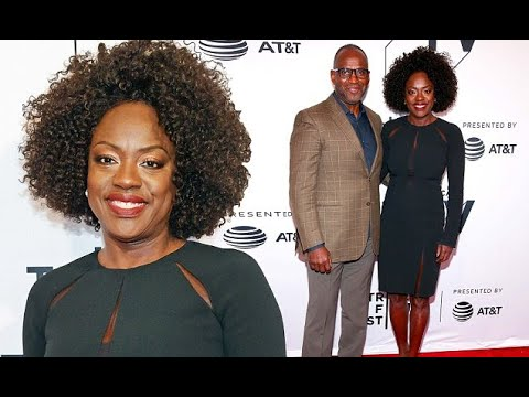 Viola Davis wows in chic black dress for Tribeca Film Festival panel alongside husband Julius Tennon