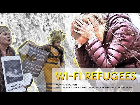 Wi-Fi Refugees. Electrosensitive people try to escape wireless technology.