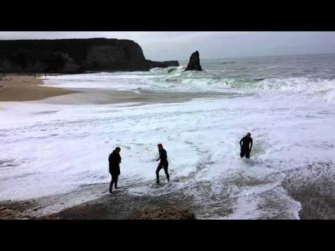 Sea Glass Hunting at Davenport Beach