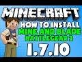 ★ How To Install Mine & Blade: Battlegear 2 MOD for Minecraft 1.7.10
