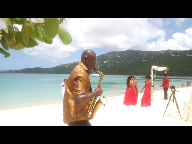 Flawless Weddings & Events Magen's Bay St Thomas US Virgin Islands DestiBeach Wedding Party Entrance