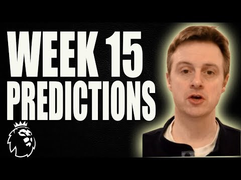 Premier league week 15 scores and results predictions 2017/18