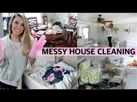 ULTIMATE CLEAN WITH ME 2019 - EXTREME CLEANING MOTIVATION / MESSY HOUSE CLEANING | Lauren Midgley