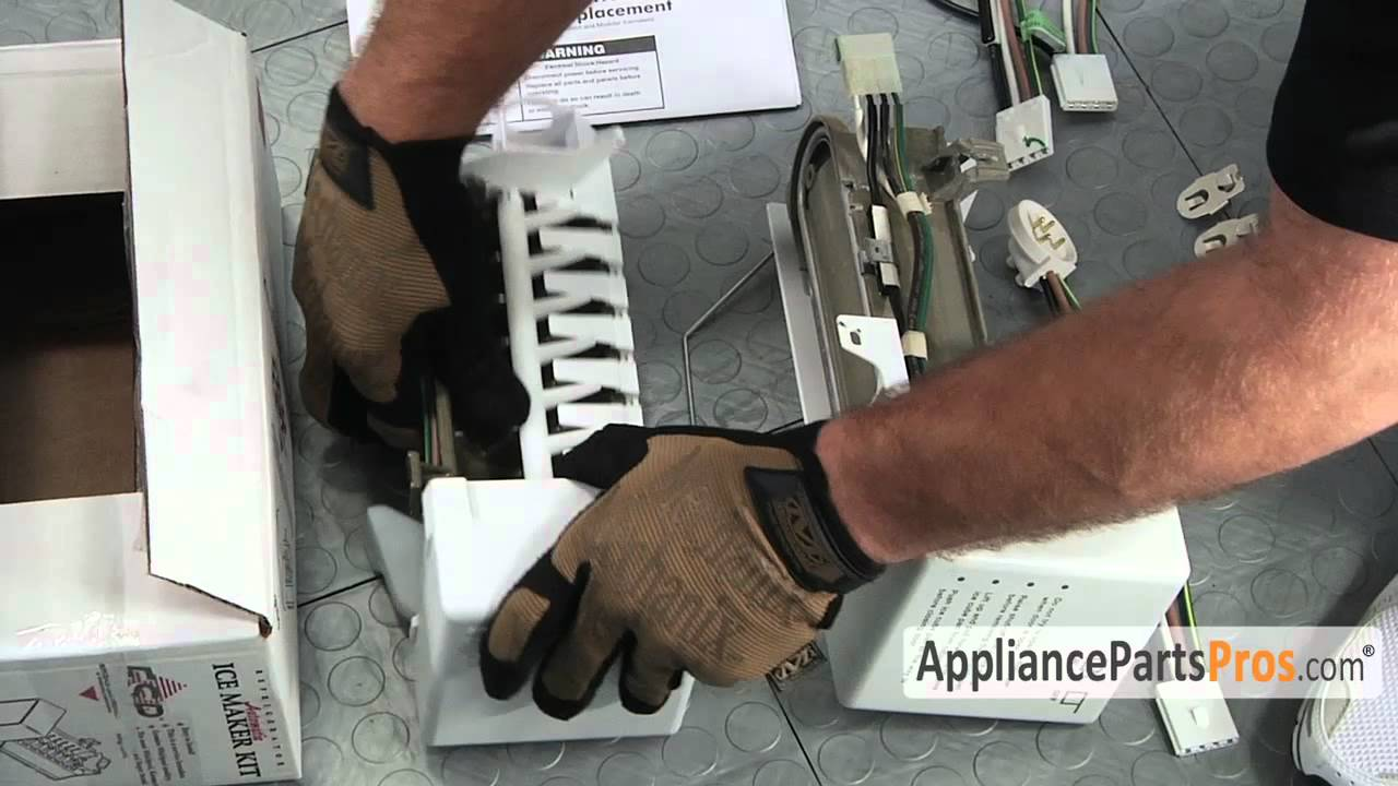Refrigerator Icemaker Kit (part #4317943)-How To Replace - YouTube on