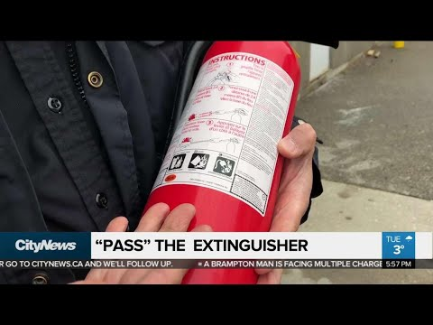 Tips on how to properly use a fire extinguisher