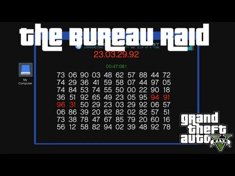 How to Hack the Server Terminal : The Bureau Raid : GTA V Guide XBOX 360 PS3 PC