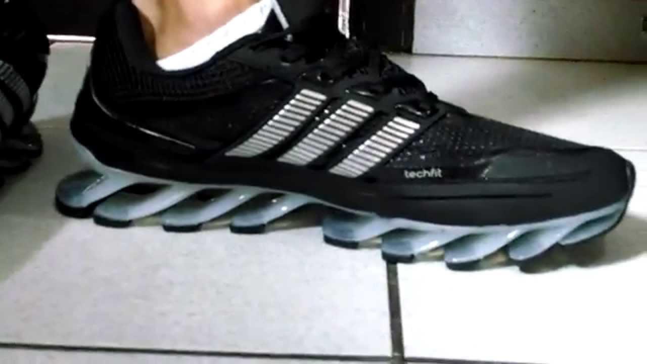 Tênis Adidas Springblade preto com prata