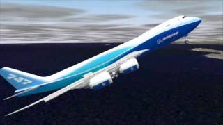 Boeing 747-8F goes on roller coaster flight