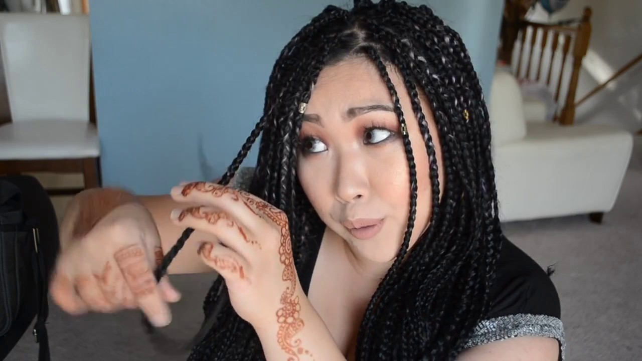 Asian girl gets braids QA  YouTube