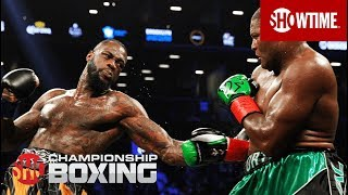 "Relive undefeated heavyweight world champion Deontay ""The Bronze Bomber"" Wilder's toughest test and seventh defense with a tenth round knockout over ..."