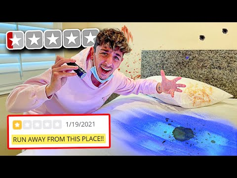 Spending 24 Hours in the WORST REVIEWED Motel.. **WORST IDEA**