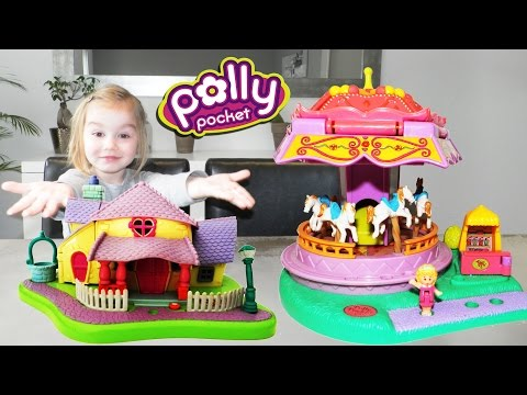 MEGA lot de figurines et maisons provenant de l'univers miniature des Polly Pocket d'autrefois !
