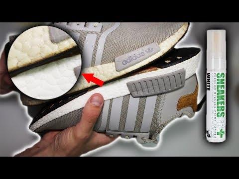 Sneaker restaurieren | SneakersER Farbstift Weiß Premium-Mittelsohle