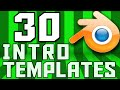 TOP 30 Blender 2D Intro Template