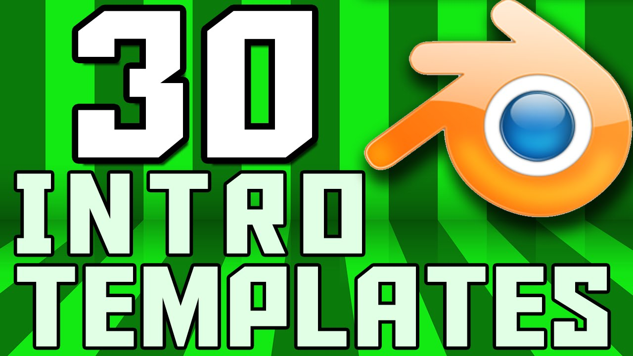 TOP 30 Blender 2D Intro Template - YouTube