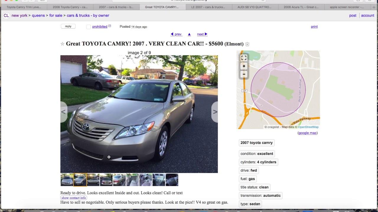 Craigslist/ebay Car listings (fake, ok, and terrible) Part 1   Camry-Acura-AUDI-Nissan