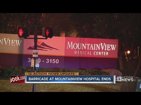 Man dead after barricade situation at MountainView Hospital