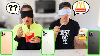 GUESS THE FAST FOOD, WIN A NEW iPHONE 11 PRO * Blindfolded * | Jancy Family