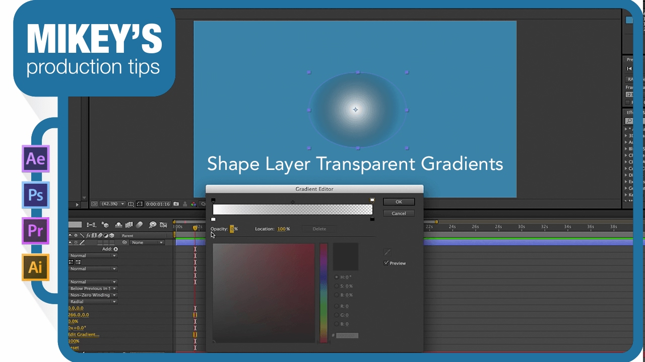 After Effect Quick Tip: shape layer transparency gradients