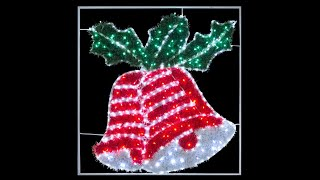 rope light motifs led double tinsel bell 1m