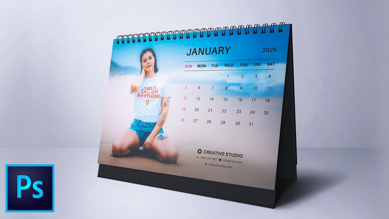 How To Design Desk Calendar 2021 In Photoshop | In Depth Tutorial