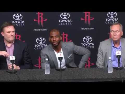 Chris Paul's Houston Rocket Introductory Press Conference | July 14, 2017