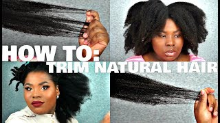 HOW TO: TRIMMING NATURAL HAIR - 4C Edition   | Bubs Bee