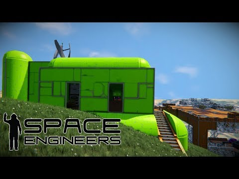 Base Tour & Building A Small Hydrogen Ship! - Space Engineers: Survival Mode Part 9