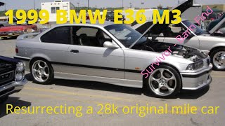 1999 BMW e36 M3, barn find, low mile survivor, journey to get my M3 back on the road again!
