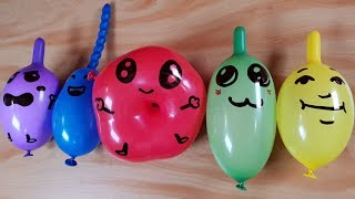 Making Crunchy Slime with Funny balloons  #6 -Satisfying Slime video