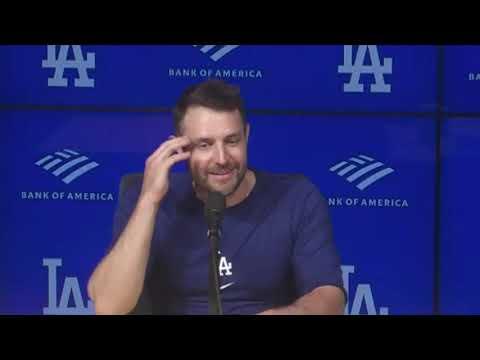Dodgers postgame: AJ Pollock talks game-winning hit, Max Scherzer's quirks on start days