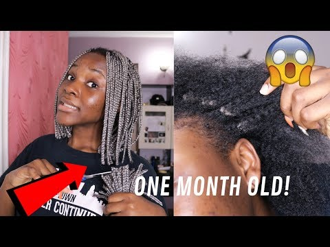 TAKING OUT MY ONE MONTH OLD BRAIDS! | Stephanie Moka