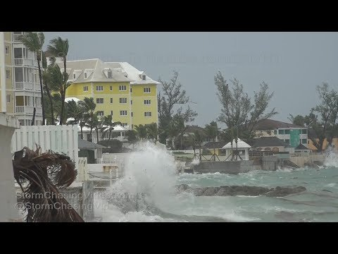 Hurricane Irma First Impacts On Nassau Bahamas - 9/8/2017