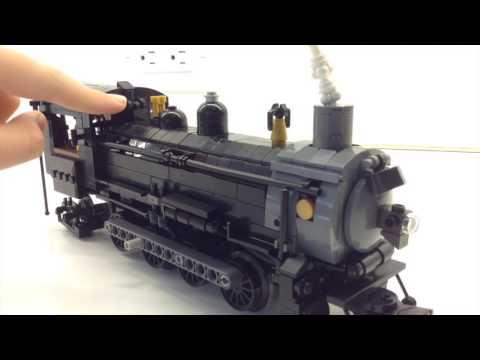 New engine GTW 0-8-2 Steam Locomotive +Vehicle Moc