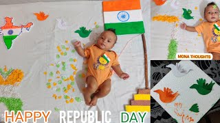 Republic day theme baby photoshoot ideas | Baby photoshoot at home | constitution day