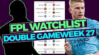 FPL Watchlist Double Gameweek 27 (players to target) | Fantasy Premier League Tips 2020/21